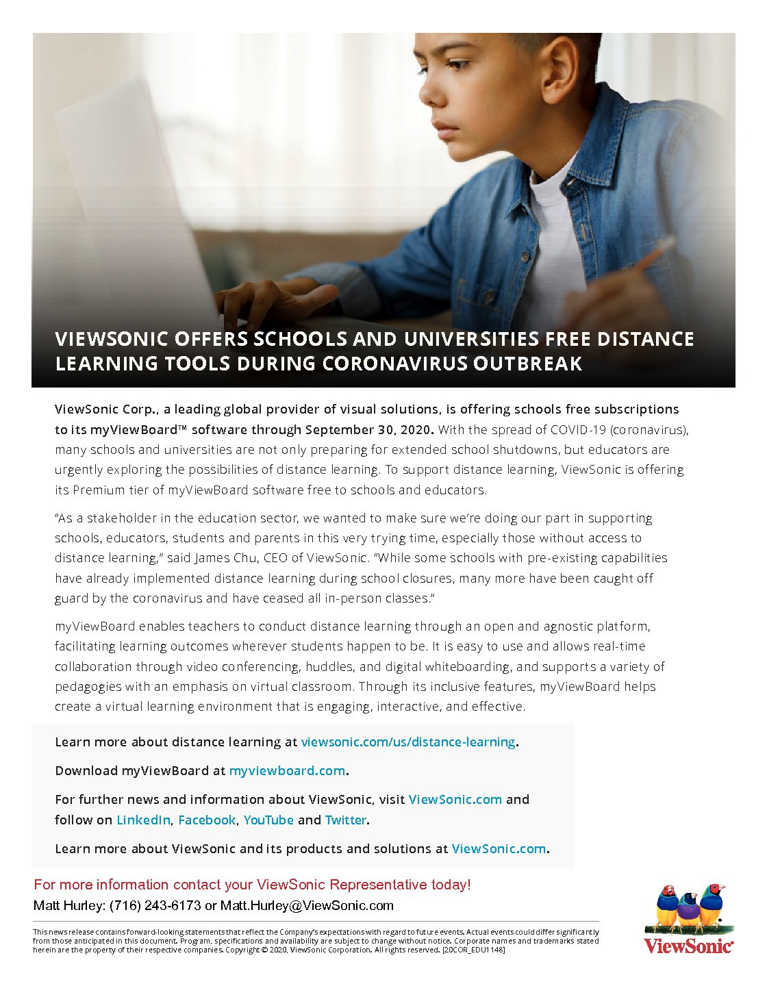 ViewSonic Distance Learning