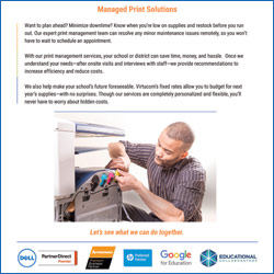 managed print solutions for k-12 schools